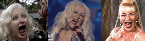 Christina Aguilera, Hatchet Face, Luna Vachon, The Voice