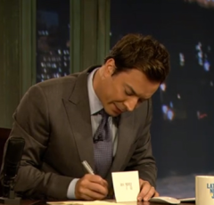 Jimmy Fallon Thank You Notes